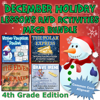 4th Grade December Holiday Lessons and Activities Mega Bundle