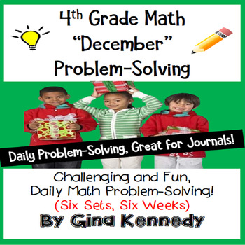 Daily Problem Solving for 4th Grade: December Word Problems (Multi-step)