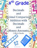 4th Grade Decimal Fractions Quick Checks