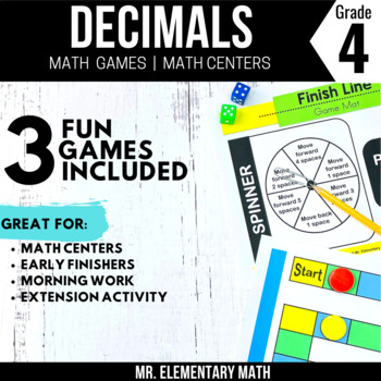 4th Grade Decimal Games and Centers