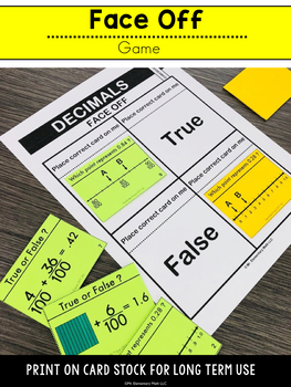 Decimal Games and Centers 4th Grade