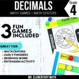 4th Grade Decimals Games and Centers