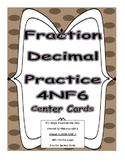 4th Grade Decimal Notation Fraction Worksheets and Center