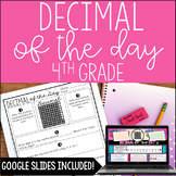 4th Grade Decimal of the Day *with Google Slides™ Distance