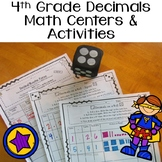 4th Grade Decimals - Math Centers and Activity Pages