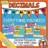 4th Grade Decimals - tenths and hundredths - comparing, ad