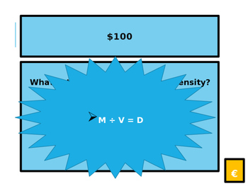 4th Grade Density Unit Jeopardy Review