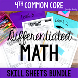 4th Grade Math | Differentiated Math Skill Sheets {Bundle}