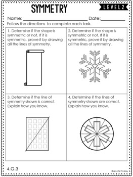 4th Grade Differentiated Math Skill Sheets {Geometry}