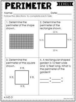 4th Grade Differentiated Math Skill Sheets {Measurement and Data}