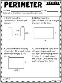 4th Grade Differentiated Math {Measurement & Data ...