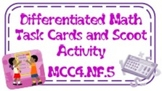 4th Grade Differentiated Task Cards/Scoot Activity Common Core Fractions 4NF5