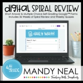 4th Grade Digital Daily Math Spiral Review | Distance Learning