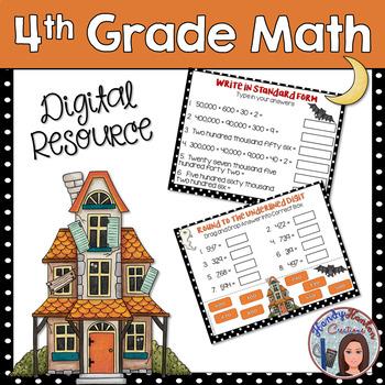 Halloween 4th Grade Go Math Chapter 1 Digital Classroom Resource