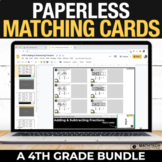 4th Grade Digital Math Centers - Paperless Matching Cards