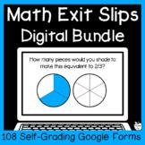 4th Grade Digital Math Exit Slips Bundle ~ Google Forms Se