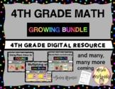 4th Grade FSA/PARCC Digital Math GROWING BUNDLE- Google Classroom