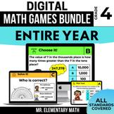 4th Grade Digital Math Games Bundle | Distance Learning |