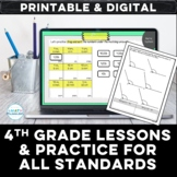 4th Grade Full Year Digital Math Lessons for All Standards