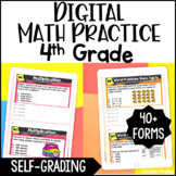 4th Grade Digital Math Practice - Self-Grading Google Form