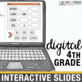 4th Grade Math Centers Digital Slides for use with Google Drive™ or Classroom