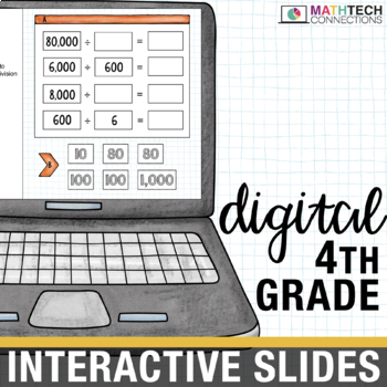 4th Grade Math Test Prep Centers - Digital Slides for use with Google Drive™