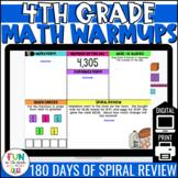 4th Grade Math Morning Work | Digital Warm Ups | Test Prep Spiral Review