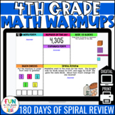4th Grade Math Morning Work | Digital Warm Ups | Distance
