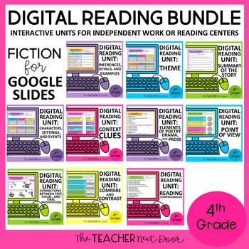 4th Grade Digital Reading Bundle: Fiction for Google Slides