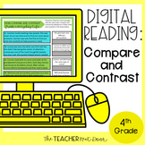 4th Grade Digital Reading Fiction: Compare and Contrast fo