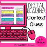 4th Grade Digital Reading: Context Clues for Google Slides