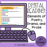 4th Grade Digital Reading: Elements of Poetry, Drama, and Prose | Google Slides™