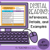 4th Grade Digital Reading: Inferences, Details, and Exampl
