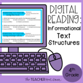 Informational Text Structures Digital Reading Google Slide