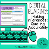 5th Grade Digital Reading: Making Inferences | Making Infe