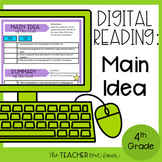 Main Idea Digital Reading Unit for Google Slides™ Distance