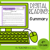 4th Grade Digital Reading: Summary | Digital Reading: Summ