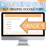 4th Grade Digital Rounding Quiz -- Distance Learning