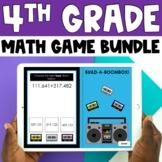 4th Grade Digital Self-Checking Math Games Bundle - PowerP