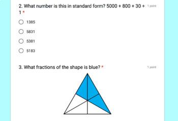 4th Grade Digital Self-Grading Math Warm-Ups Growing Bundle