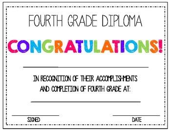 4th Grade Diploma