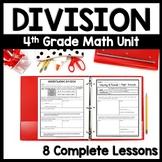 4th Grade Division Bundle, 8-Day Division Unit: Practice Packets + Exit Quizzes
