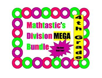 Mathtastic's 4th Grade Division Games MEGA Bundle for Common Core