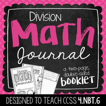 4th Grade Division Math Journal