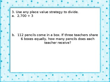 4th Grade Division/Multiplication Review