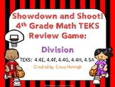4th Grade Division Review Game:  Showdown and Shoot (TEKS 4.4E,F,G,H 4.5A)