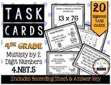 4th Grade Task Cards | Double Digit Multiplication 4.NBT.5
