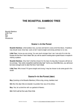 4th Grade STAAR Reading Practice Passage: Drama/Play - The Boastful Bamboo Tree