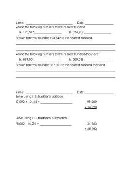 4th Grade EDM Unit 4 Cumulative Test Review