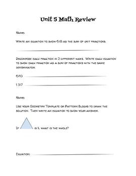 4th Grade EDM Unit 5 Review